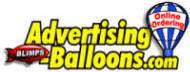 Advertising Balloons, Giant Balloons, Big Balloons, Inflatable Product Replicas, Helium Filled Blimps, Inflatable Costumes, Air Dancers, Pop Up Tents and Much More!  - Click here for home page.