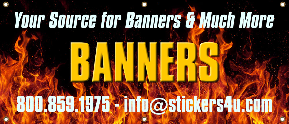 Custom Banners & Signs. 1 color banners up to full Color banners. from 3' to 30'+ We'll get the job done for you quick and at a fair price.